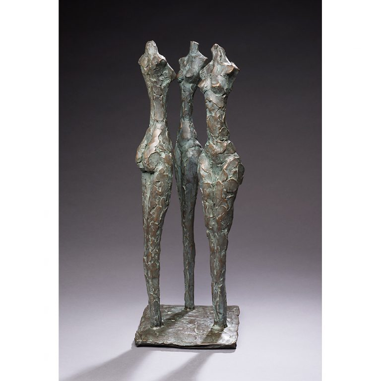 "The Three Graces, Bronze, Edition of 11, 25"" x 9"" x 9"""