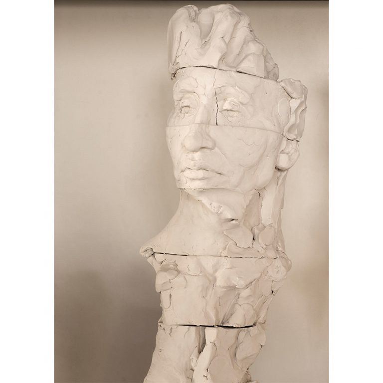 Fragmented Figure Sketch, Water Based Clay, Life-Sized