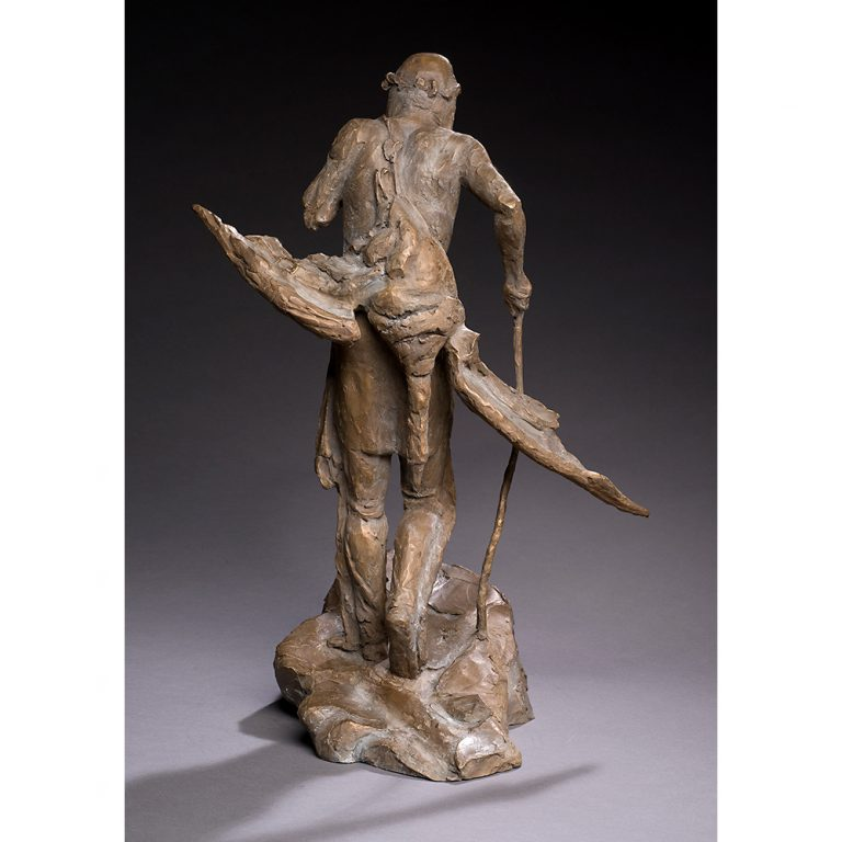 """The Goose Hunter, Bronze, Edition of 11, 21"""" x 17"""" x 13"""""""