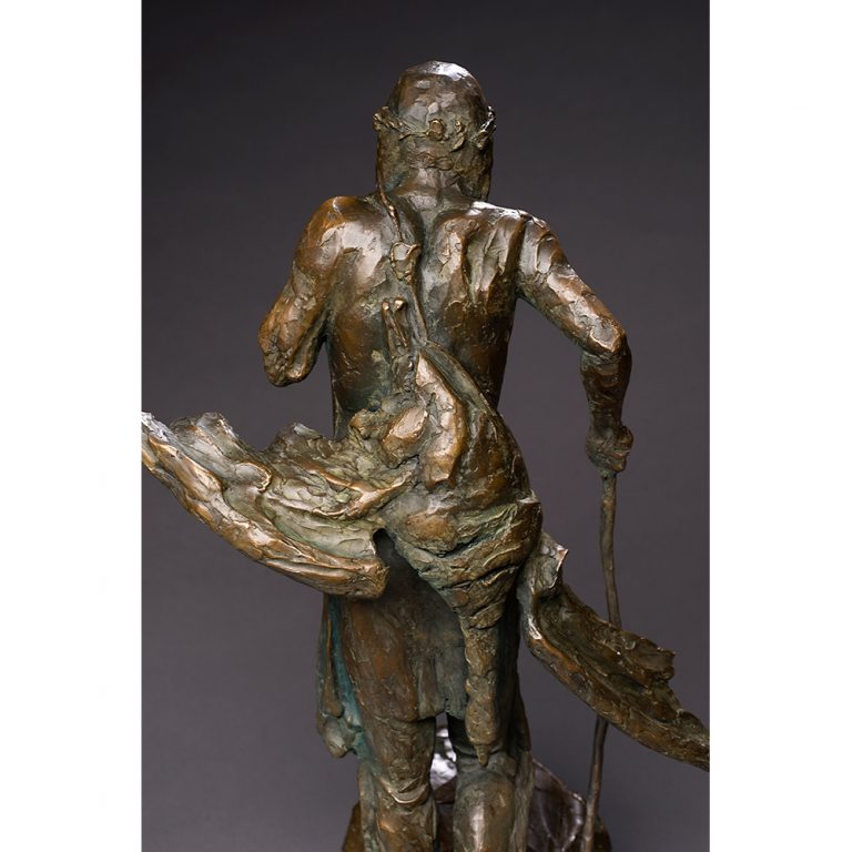 "The Goose Hunter, Bronze, Edition of 11, 21"" x 17"" x 13"""