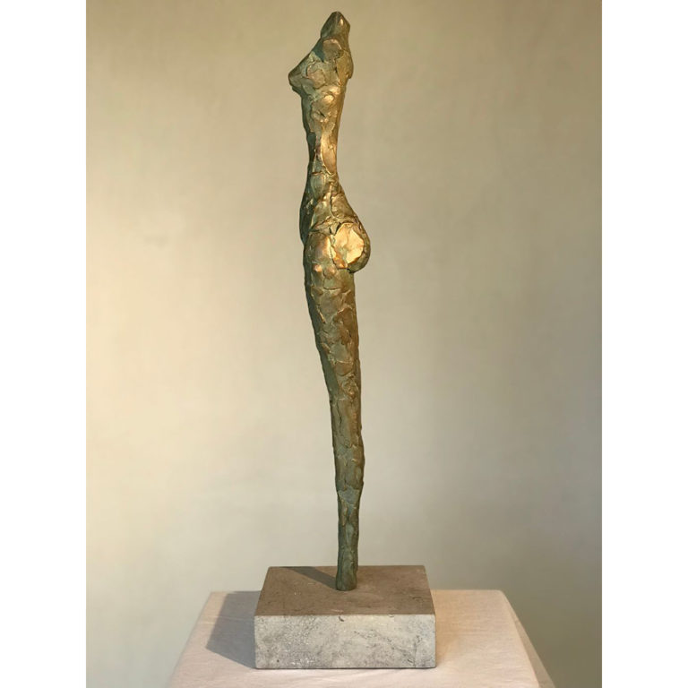 "Grace, Bronze, Edition of 11, 3"" x 3.5"" x 24"""